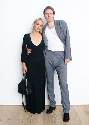 Whitney studio party 2018   jemima kirke and alex cameron   credit bfa carl timpone